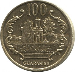 Coin > 100guaranies, 1990 - Paraguay  - obverse