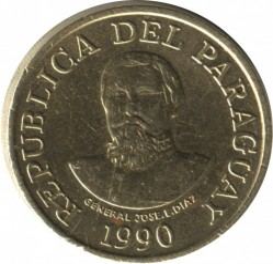 Coin > 100guaranies, 1990 - Paraguay  - reverse