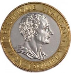 Moneda > 10francs, 1989 - França  (300è aniversari - Naixement de Charles-Louis de Montesquieu) - obverse