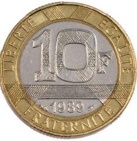 10 Franken 1989 Montesquieu Frankreich Münzen Wert Ucoinnet