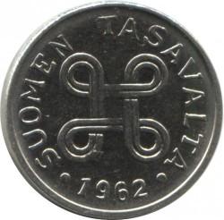 Münze > 1Mark, 1962 - Finnland  - obverse