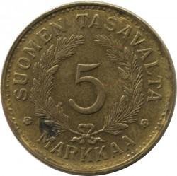 Münze > 5Mark, 1949 - Finnland  - reverse