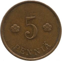 Moneta > 5pensai, 1918-1940 - Suomija  - reverse