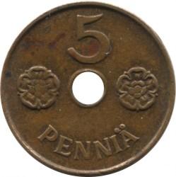 Münze > 5Penny, 1942 - Finnland  - reverse