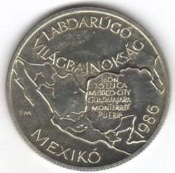 Moneta > 100fiorini, 1985 - Ungheria  (FIFA World Cup 1986 - Map of Mexico) - reverse