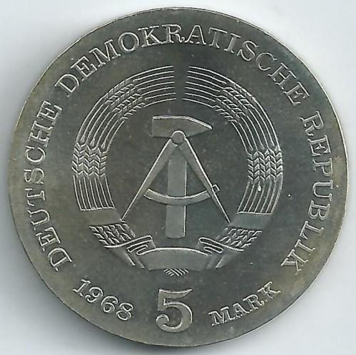 5 Mark 1968 Robert Koch Deutschland Ddr Münzen Wert Ucoinnet