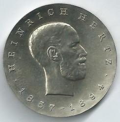 Moneda > 5marcos, 1969 - Alemania - RDA  (75º Aniversario - Muerte de Heinrich Hertz) - reverse