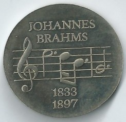 5 mark 1972 - Johannes Brahms, Duitsland - DDR - Munt waarde - uCoin net
