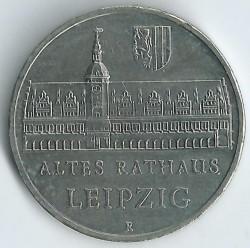 Moneda > 5marcos, 1984 - Alemania - RDA  (Antiguo Ayuntamiento de Leipzig) - reverse