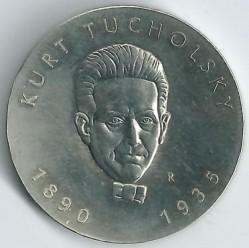 Moneda > 5marcos, 1990 - Alemania - RDA  (100º Aniversario - Nacimiento de Kurt Tucholsky) - reverse