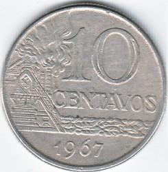 Νόμισμα > 10Σεντάβος, 1967-1970 - Βραζιλία  - reverse