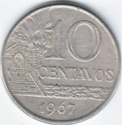 Moneda > 10centavos, 1967-1970 - Brasil  - reverse