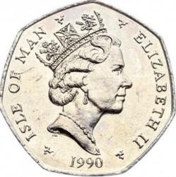 Монета > 50пенсів, 1988-1997 - Острів Мен  - obverse