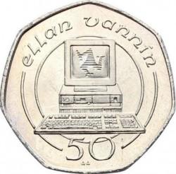 Монета > 50пенсів, 1988-1997 - Острів Мен  - reverse