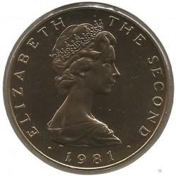 Монета > 5фунтов, 1981-1984 - Остров Мэн  - obverse
