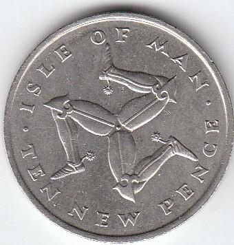 1975 ten pence coin value