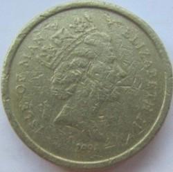 Монета > 1фунт, 1988-1995 - Острів Мен  - obverse