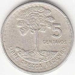 Monedă > 5centavo, 1971-1977 - Guatemala  - reverse