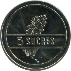 Moneda > 5sucres, 1988-1991 - Equador  - reverse