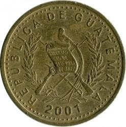 Moneda > 50centavos, 1998-2007 - Guatemala  - obverse