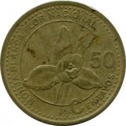 Moneda > 50centavos, 1998-2007 - Guatemala  - reverse