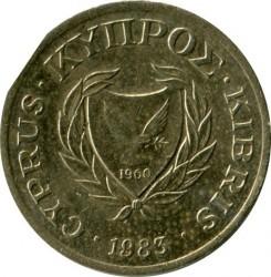 Pièce > 1cent, 1983 - Chypre  - obverse