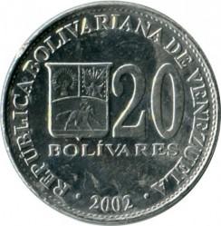 מטבע > 20בוליבר, 2001-2004 - ונצואלה  - obverse