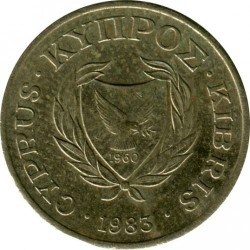 Moneda > 2 cents, 1983 - Xipre  - reverse