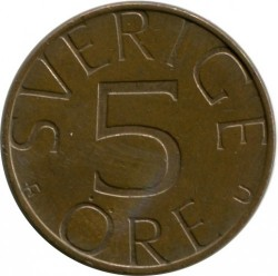 Coin > 5 ore, 1979 - Sweden  - obverse