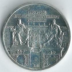 Moneda > 10marcos, 1985 - Alemania - RDA  (175º Aniversario - Universidad Humboldt de Berlín) - reverse