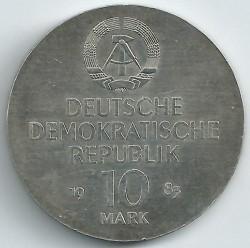Moneda > 10marcos, 1983 - Alemania - RDA  (100º Aniversario - Muerte de Richard Wagner) - obverse