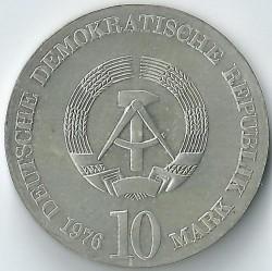 Moneda > 10marcos, 1976 - Alemania - RDA  (150º Aniversario - Muerte de Carl Maria von Weber) - obverse