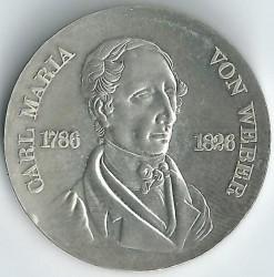 Moneda > 10marcos, 1976 - Alemania - RDA  (150º Aniversario - Muerte de Carl Maria von Weber) - reverse