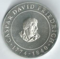 Moneda > 10marcos, 1974 - Alemania - RDA  (200º Aniversario - Nacimiento de Caspar David Friedrich) - reverse