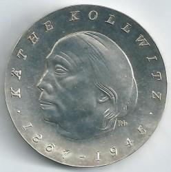 Moneda > 10marcos, 1967 - Alemania - RDA  (100 Aniversario - Nacimiento de Käthe Kollwitz) - reverse