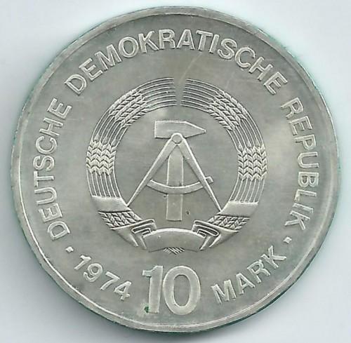 10 Mark 1974 Ddr Gebäude Deutschland Ddr Münzen Wert Ucoinnet
