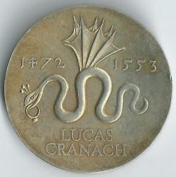 Moneda > 20marcos, 1972 - Alemania - RDA  (500º Aniversario - Nacimiento de Lucas Cranach el Viejo) - reverse