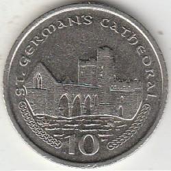 Кованица > 10пенија, 2000-2003 - Острво Мен  - reverse