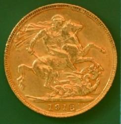 錢幣 > 1鎊(索維林), 1916 - 英國  - reverse