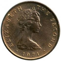 Монета > ½новопени, 1971-1975 - Остров Ман  - obverse