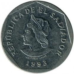 Moneda > 1colón, 1993-1998 - El Salvador  - obverse