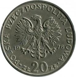 Кованица > 20злота, 1974-1983 - Пољска  (Marceli Nowotko) - obverse
