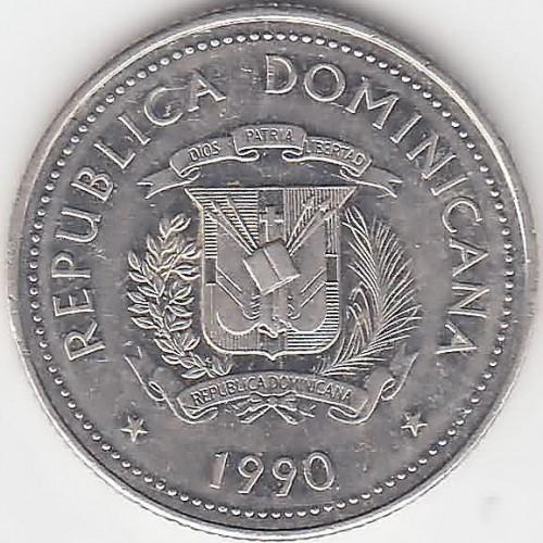 25 Centavos 1990 Dominican Republic