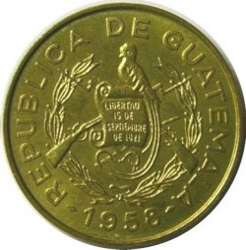 Moneta > 1centavo, 1958-1964 - Gwatemala  - reverse