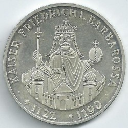 Coin > 10mark, 1990 - Germany  (800th Anniversary - Death of Frederick I Barbarossa) - obverse