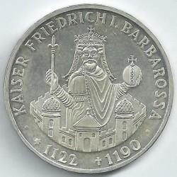 Coin > 10mark, 1990 - Germany  (800th Anniversary - Death of Frederick I Barbarossa) - reverse