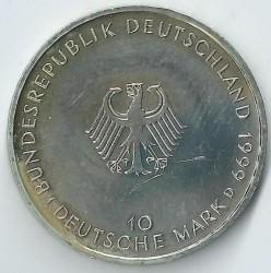 Moneda > 10marcos, 1999 - Alemania  (50 aniversario de la Constitución de la República Federal de Alemania) - obverse