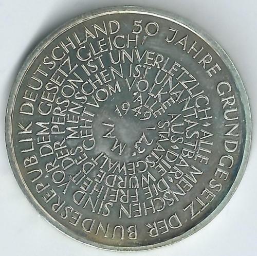10 Mark 1999 Gründungsgesetz Deutschland Münzen Wert Ucoinnet