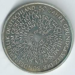 Moneda > 10marcos, 1999 - Alemania  (50 aniversario de la Constitución de la República Federal de Alemania) - reverse