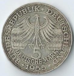 Moneda > 5marcos, 1955 - Alemania  (300º Aniversario - El nacimiento de Ludwig von Baden) - obverse